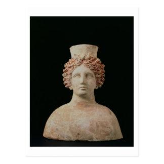 Female bust with kalathos from Ibiza, 5th century Postcard