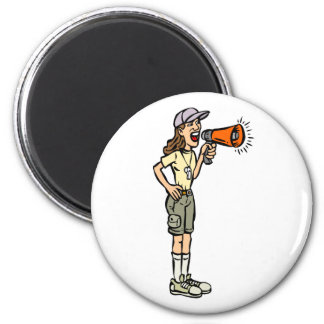 Female Camp Counselor Refrigerator Magnet