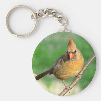Female Cardinal Keychain