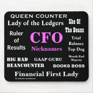 Female CFO Nicknames Funny Rude Silly Names Mouse Mat