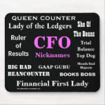 Female CFO Nicknames Funny Rude Silly Names Mouse Pad