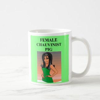 female chauvinist pig., female chauvinist pig. basic white mug