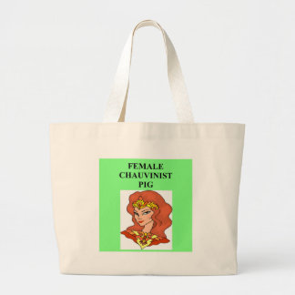 female chauvinist pig jumbo tote bag