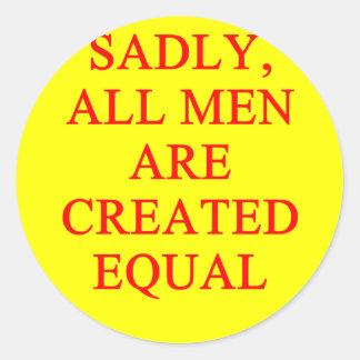 female chauvinist pig round sticker