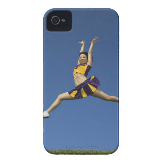 Female cheerleader jumping in air iPhone 4 cover