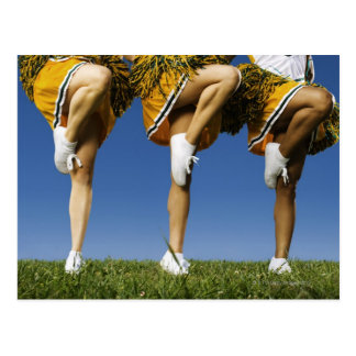 Female cheerleader s legs low section post cards