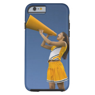 Female cheerleader shouting into megaphone tough iPhone 6 case