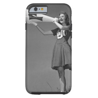 Female cheerleader using megaphone tough iPhone 6 case