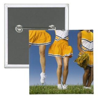 Female cheerleader's legs  (low section) 15 cm square badge