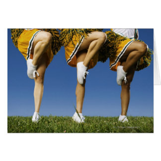 Female cheerleader's legs (low section) greeting card