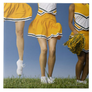 Female cheerleader's legs  (low section) large square tile
