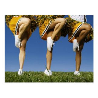 Female cheerleader's legs (low section) postcard