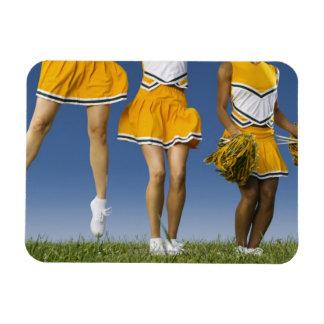 Female cheerleader's legs  (low section) rectangular magnets
