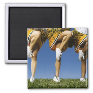 Female cheerleader's legs (low section) square magnet