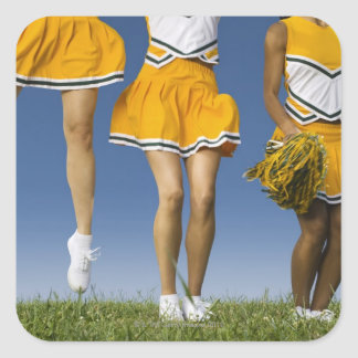 Female cheerleader's legs  (low section) square sticker