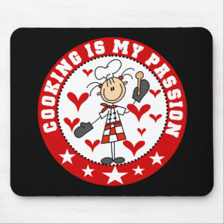 Female Chef Cooking Passion Mousepad