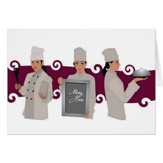 Female chef design card