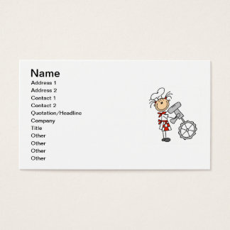 Female Chef Using Mixer Business Card