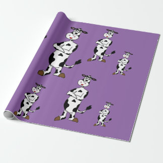 """Female cow"" custom wrapping paper"