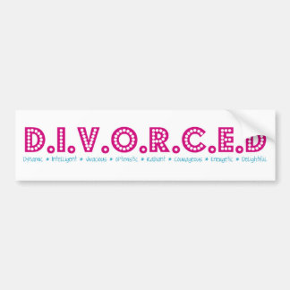 Female Definition of Divorce Bumper Sticker