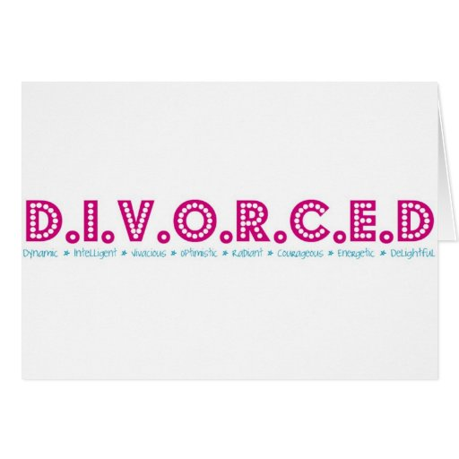 Female Definition of Divorce Cards