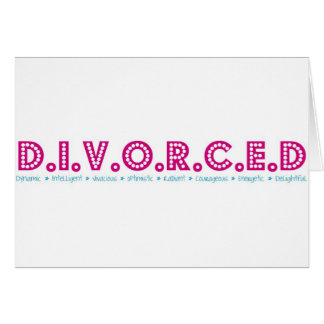 Female Definition of Divorce Greeting Card