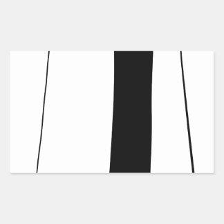 Female doctor silhouette rectangular sticker