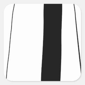 Female doctor silhouette square sticker
