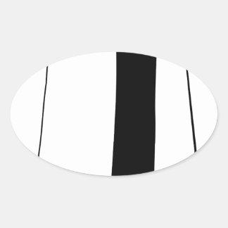 Female doctor silhouette oval sticker