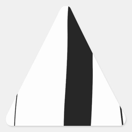 Female doctor silhouette triangle sticker