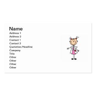 Female Doctor Stick Figure Business Card