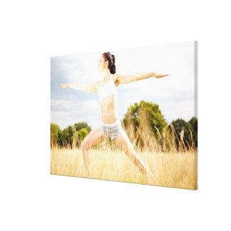 Female Does Yoga Stretch Canvas Print