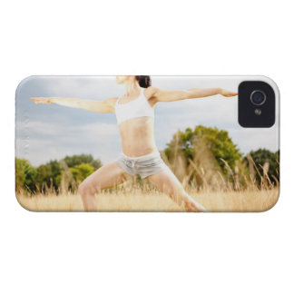 Female Does Yoga Stretch iPhone 4 Cases