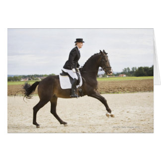 female dressage rider exercising 2 card