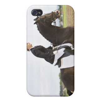 female dressage rider exercising 2 iPhone 4 cases
