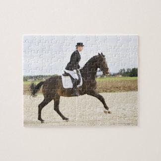 female dressage rider exercising 2 jigsaw puzzle