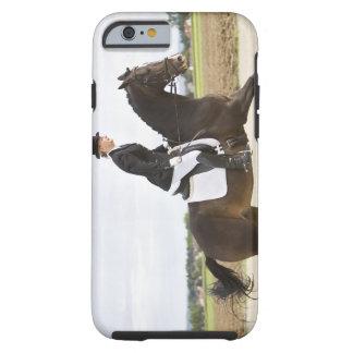 female dressage rider exercising 2 tough iPhone 6 case
