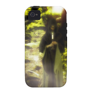 Female druid in forest vibe iPhone 4 case