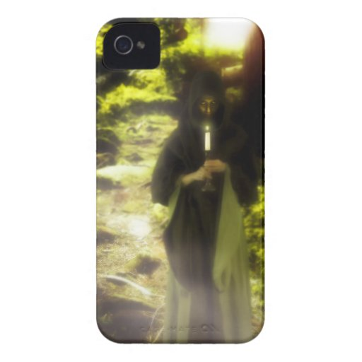 Female druid in forest iPhone 4 case