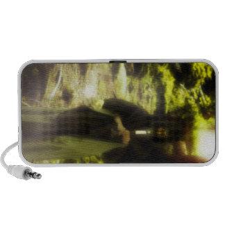 Female druid in forest iPod speakers