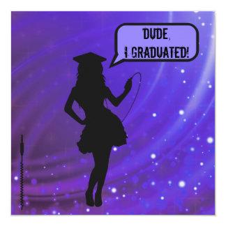 Female Dude I Graduated Music Lover Graduation Card