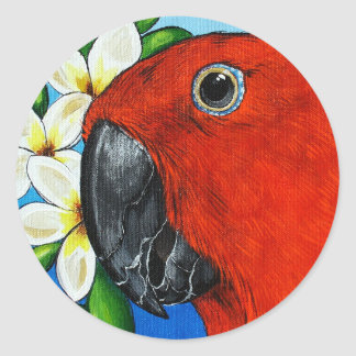 Female Eclectus Parrot Stickers