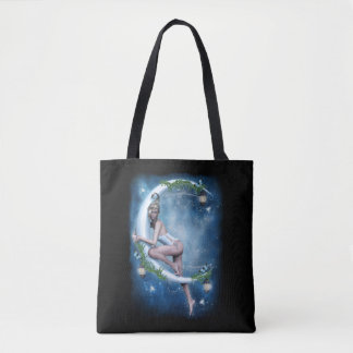 Female Elf Moon All-Over-Print Tote Bag