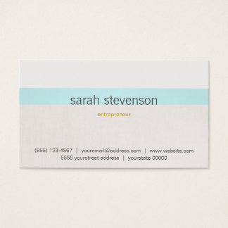 Female Entrepreneur Understated and Stylish Chic Business Card