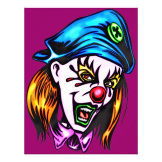 Female Evil Clown Custom Flyer