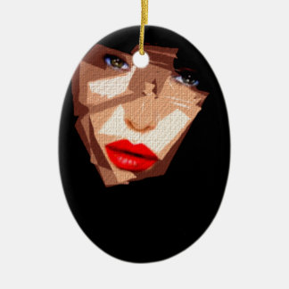 Female Expressions 592 Ceramic Oval Decoration