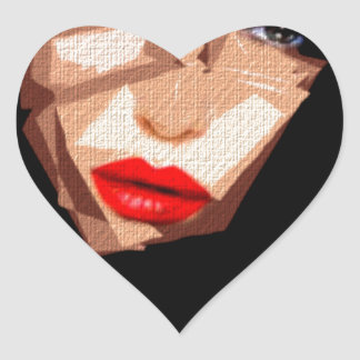 Female Expressions 592 Heart Sticker