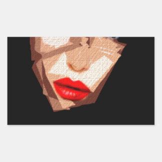 Female Expressions 592 Rectangular Sticker