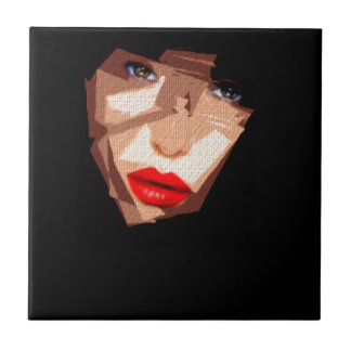 Female Expressions 592 Small Square Tile