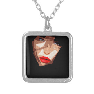 Female Expressions 592 Square Pendant Necklace